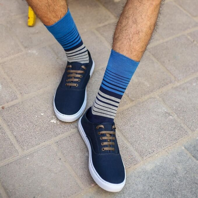 ColorCool - Colorcool Colored Men's Socks Thin Striped (1)