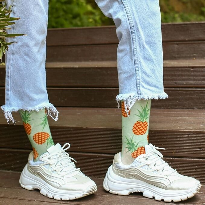 ColorCool - Colorcool Colored Printed Pineapple Socks (1)