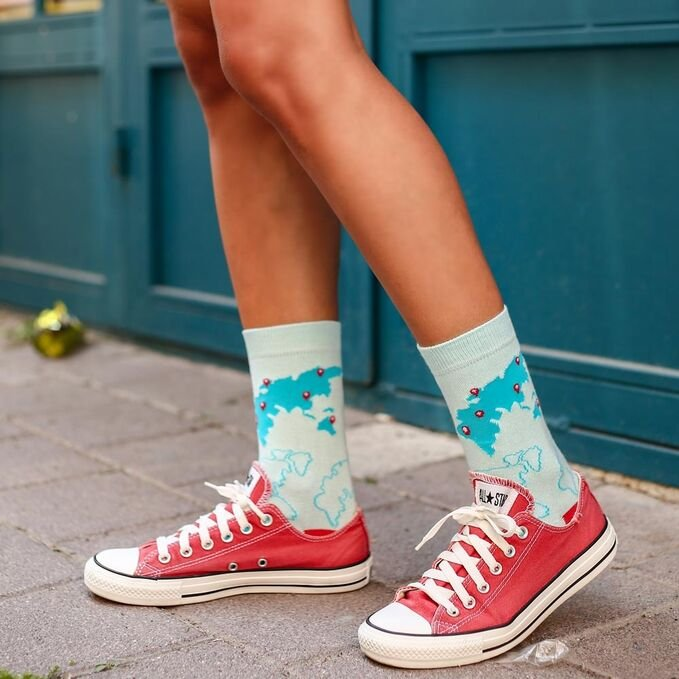 ColorCool - Colorcool Colored Socks World Map (1)
