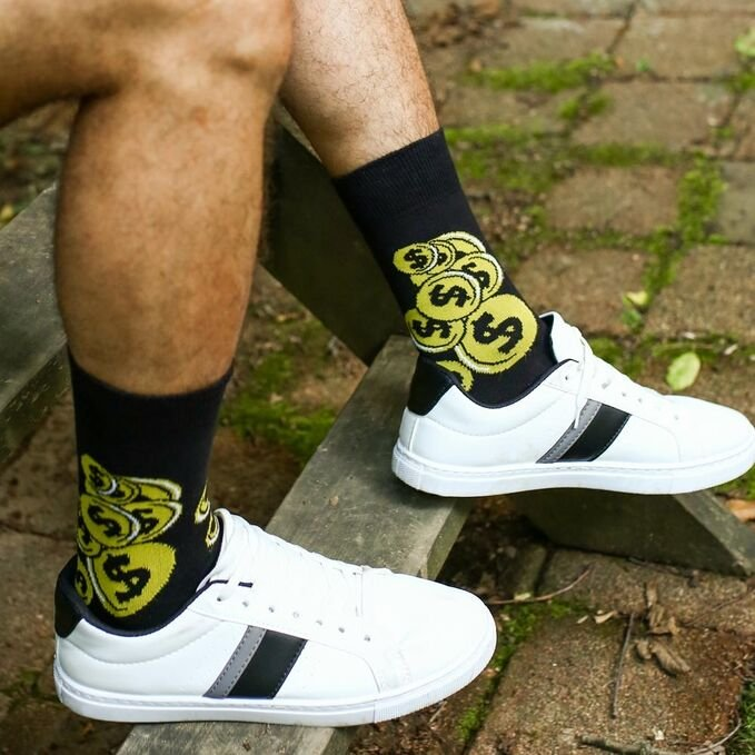 ColorCool - Colorcool Dollar Patterned Socks (1)