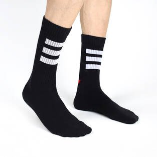 ColorCool - Colorcool Men's Black Ribbed Socks Exit (1)