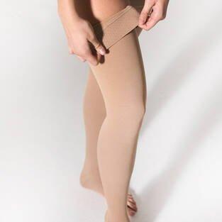 Varimed Men's and Women's Medium Compression High Socks Compression Stockings Open Toe 8230 - Thumbnail